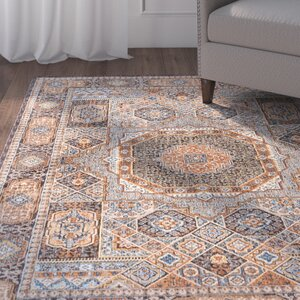 Matteson Traditional Beige/Orange Area Rug