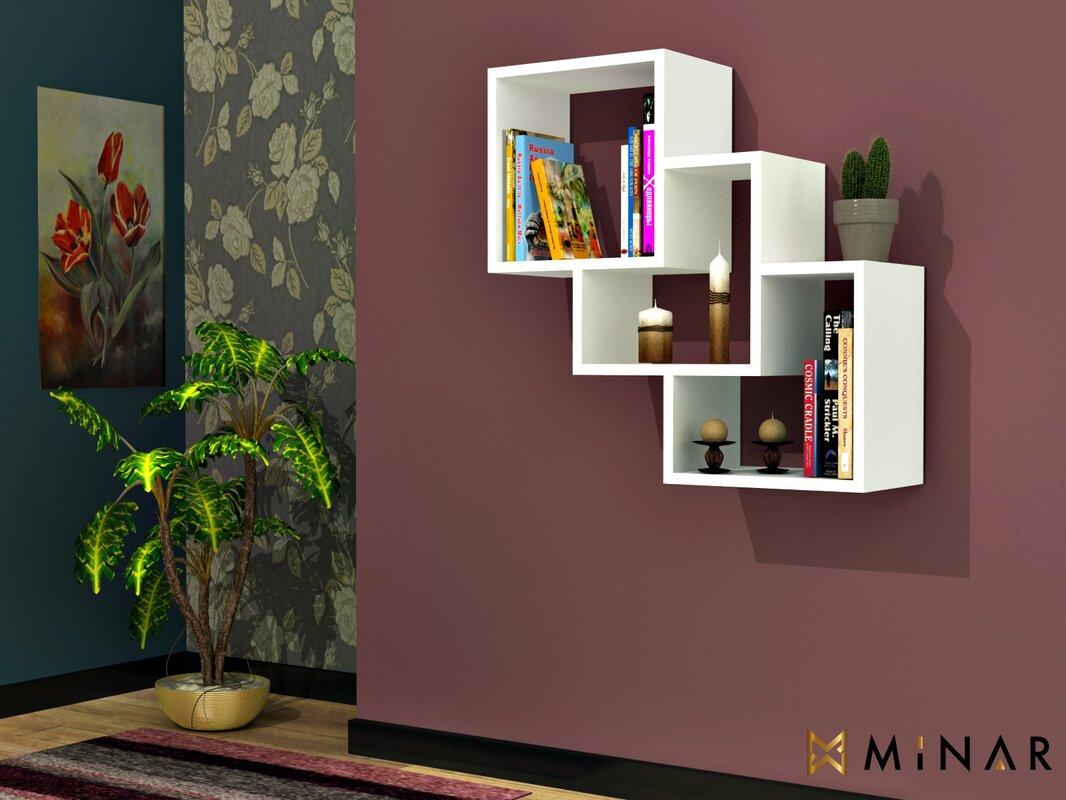 hazelwood home schweberegal cube. Black Bedroom Furniture Sets. Home Design Ideas