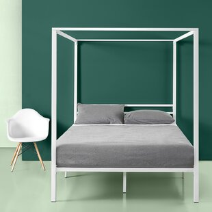 Affordable Price Hubbert Metal Framed Canopy Bed Frame ByIvy Bronx