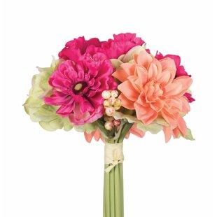 Artificial poppy flowers wayfair artificial poppy and dahlia mixed stem mightylinksfo