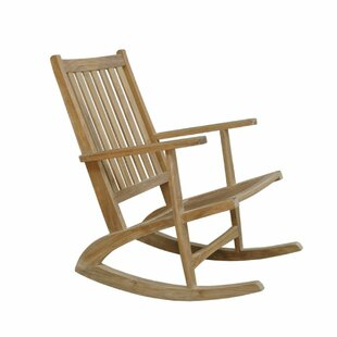 Bollman Teak Rocking Armchair Chair by Foundry Select Wonderful