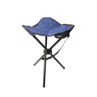 Tania Outdoor Tripod Folding Camping Stool with Cushion by Freeport Park