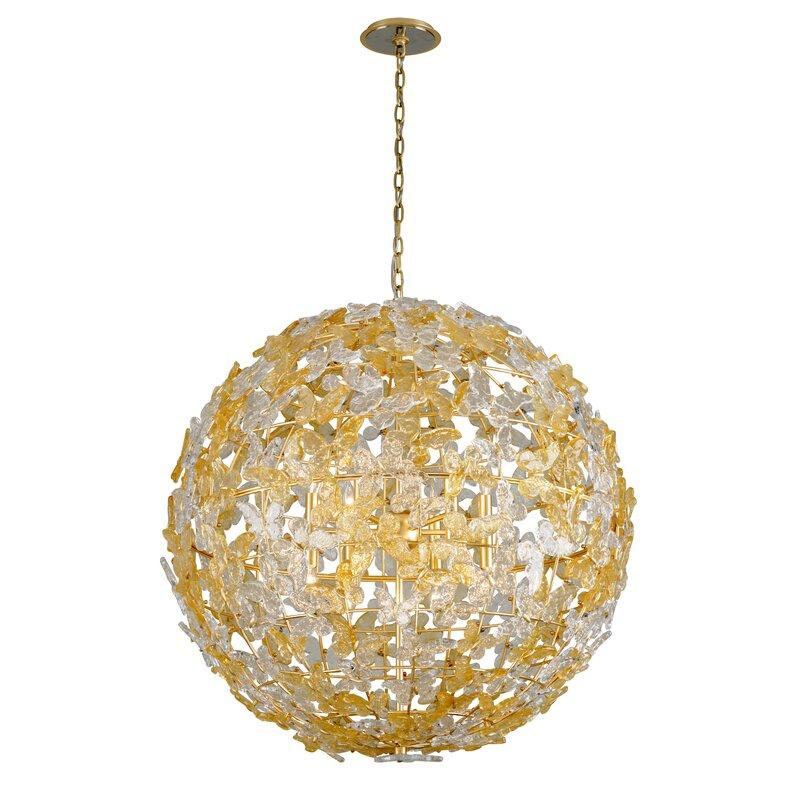 Corbett Lighting Milan 12 Light Unique Statement Globe Chandelier Wayfair