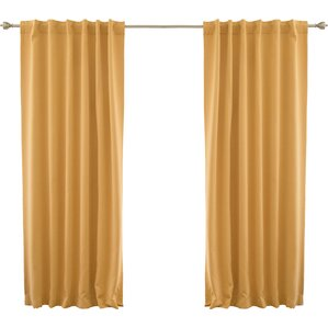 yellow curtains for bedroom.  Drapes Valance Sets You ll Love Wayfair