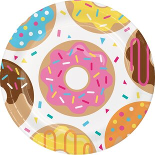Donut Time Paper Plate (Set of 24)