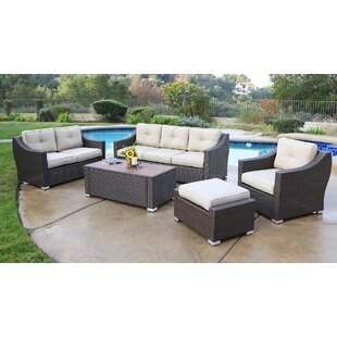 Tampa 5 Piece Sofa Seating Group with Cushions