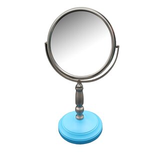 Reviews Aldan Freestanding Bath Magnifying Makeup Mirror By Winston Porter