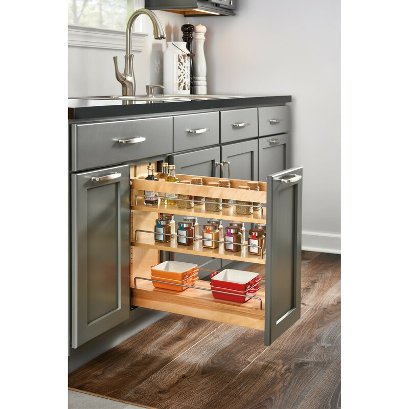 Rev A Shelf Wood Base Cabinet Pull Out Pantry Wayfair