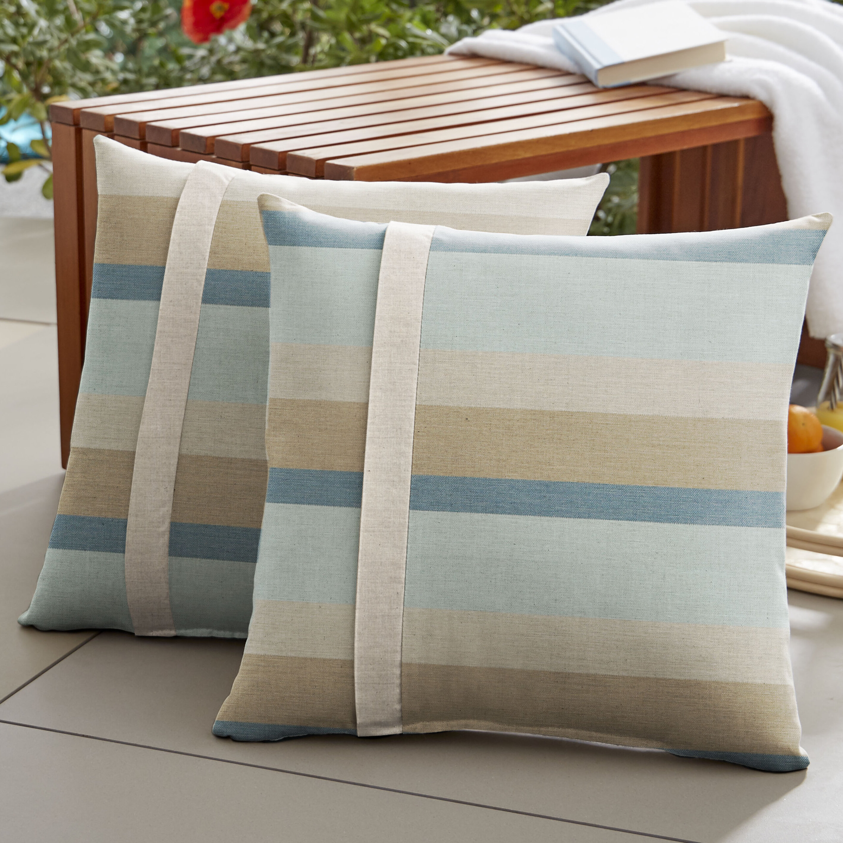Highland Dunes Ellaline Indoor Outdoor Throw Pillow Reviews Wayfair