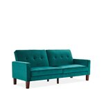 Brentwood 78 Pillow Back Convertible Sofa by Everly Quinn