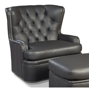 Swivel Wingback Chair and Ottoman by Fairfield Chair