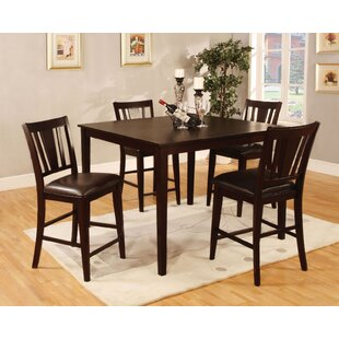Long Ashton 5 Pieces Counter Height Dining Set Winston Porter