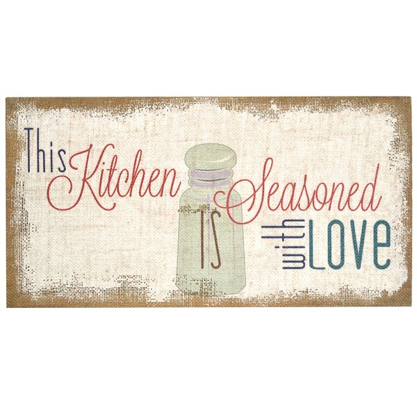 Stratton Home Decor Seasoned With Love Typography Burlap Wall Decor & Reviews by Stratton Home Decor
