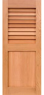 Western Cedar Louver Flat Panel Combination Shutter by Shutters Design