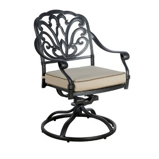 Dunnes Swivel Patio Dining Chair with Cushion (Set of 2)