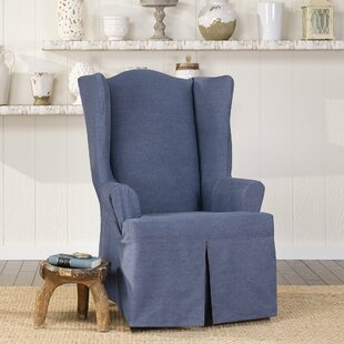 Authentic T-Cushion Wingback Slipcover