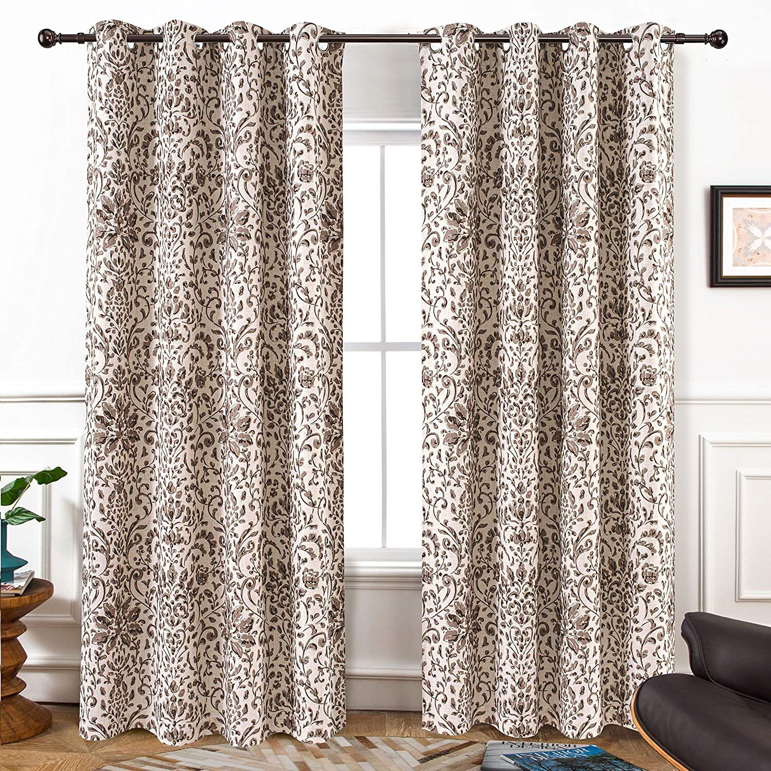 Floral Linen Curtains Drapes You Ll Love In 2021 Wayfair