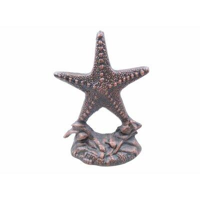 Starfish Door Iron Weighted Floor Stop Handcrafted Nautical Decor