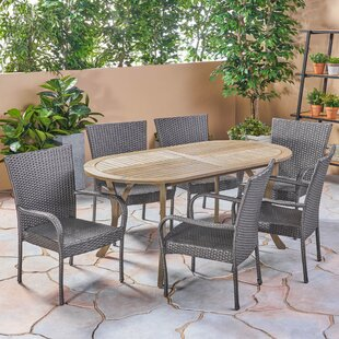 Lafrance Outdoor 7 Piece Dining Set