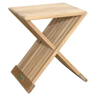 Check Prices Marilla Folding Teak Side Table Look & reviews