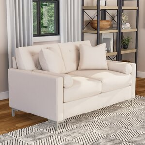 Wayfair Custom Upholstery? Harper Loveseat with Metal Legs Image