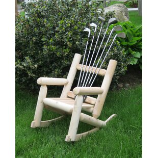 Golf Children's Club Solid Wood Rocking Adirondack Chair