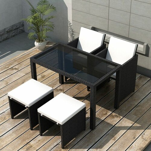4-Sitzer Gartengarnitur Deniece mit Polster Garten Living | Garten > Gartenmöbel > Gartenmöbel-Set | Garten Living