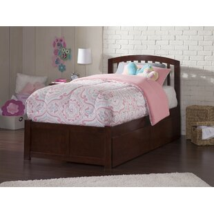 Best Timmy Extra Long Twin Slat Bed with Storage By Viv + Rae