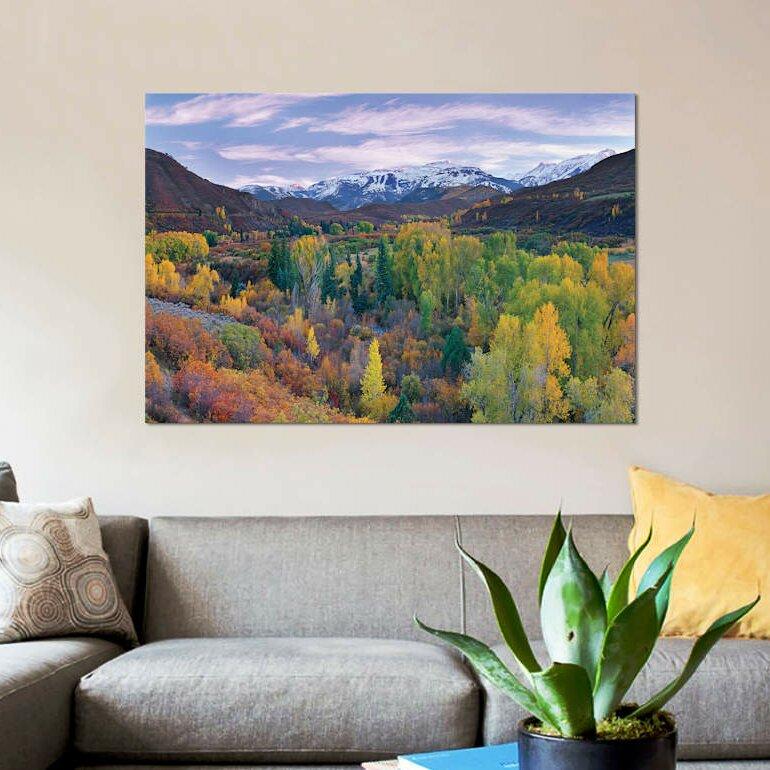 East Urban Home Quaking Aspen Forest In Autumn Snowmass Mountain Near Quaking Aspen Colorado Photographic Print On Canvas Wayfair