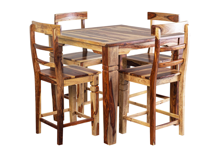 Loon Peak Traci Counter Height Sheesham Solid Wood Dining Table Wayfair