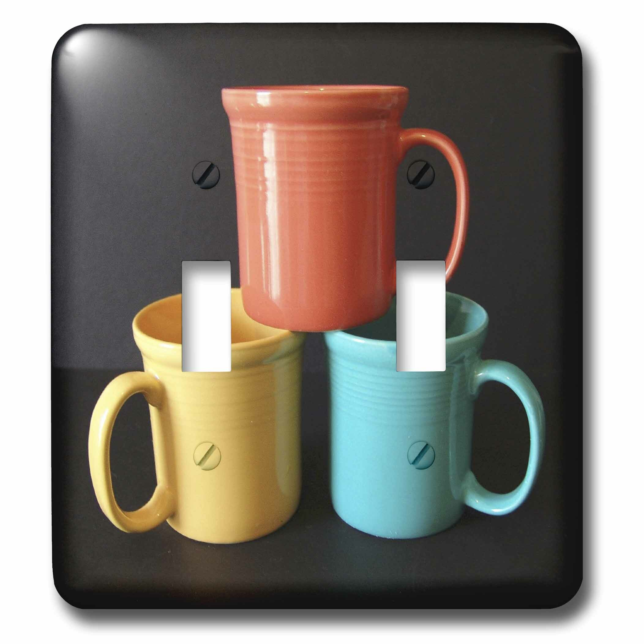 3drose Tea Or Coffee 2 Gang Toggle Light Switch Wall Plate Wayfair
