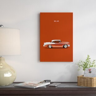'1956 Chevrolet Bel Air' Graphic Art Print on Canvas ByEast Urban Home