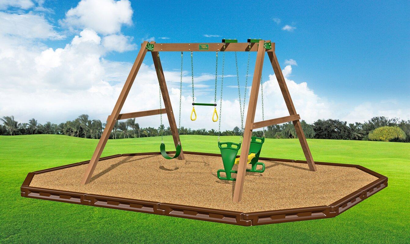 wood swing sets you u0027ll love wayfair
