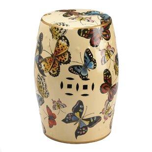 Shop For Hays Butterflies in Flight Garden Stool ByAugust Grove