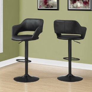 Iva Adjustable Height Swivel Bar Stool by Orren Ellis