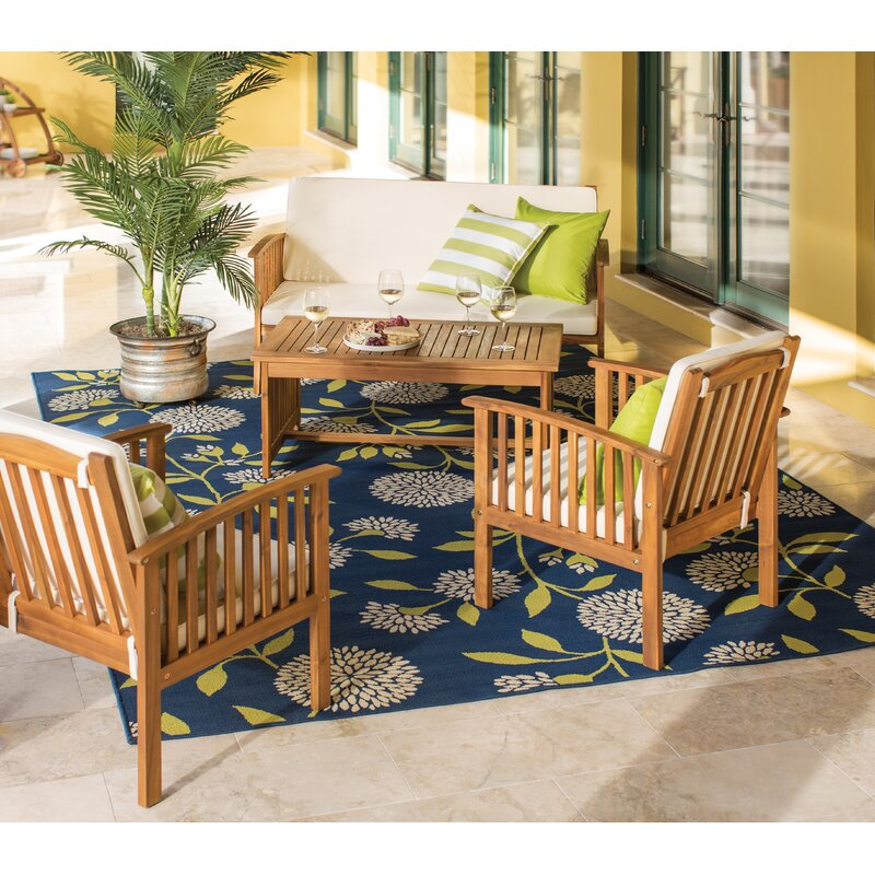 Firenze 4 Piece Sofa Seating Group With Cushions