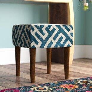 Affordable Noe Lattice Upholstered Vanity Stool ByLangley Street