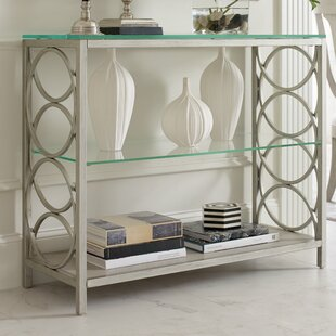 Cinema Glass Top Console Table