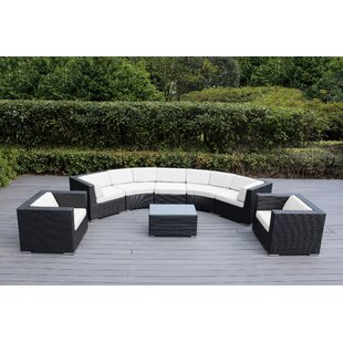 Popham 8 Piece Sunbrella Sectional Set with Cushions
