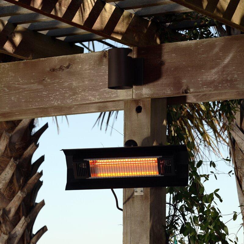 Wall Mounted 1500 Watt Electric Mounted Patio Heater
