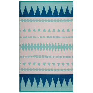 Chouinard Palm Springs Teal Indoor/Outdoor Area Rug