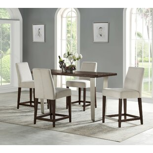 Koffler 5 Piece Counter Height Dining Set by Ivy Bronx Amazing