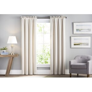 Wayfair Basics Solid Room Darkening Rod Pocket Curtain Panel Pair (Set Of 2) Part 69