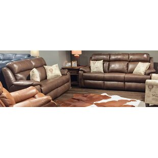 Blue Ribbon 2 Piece Leather Reclining Living Room Set by Southern Motion