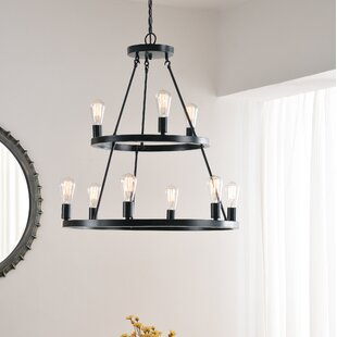 Shopping for Charndon 9-Light Wagon Wheel Chandelier By Gracie Oaks