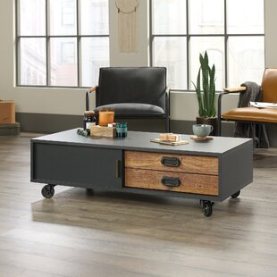 Loehr Coffee Table With Tray Top And Storage