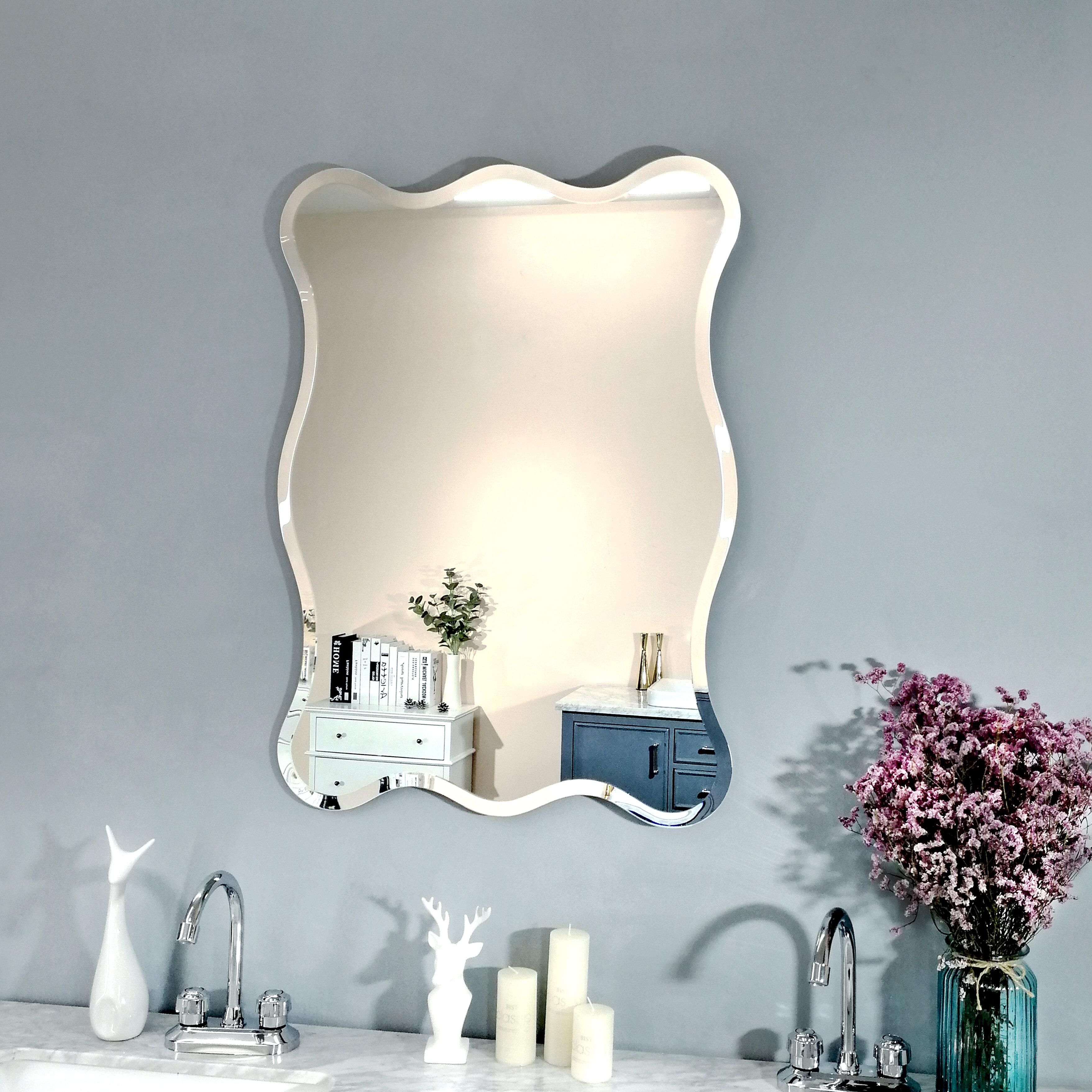 House Of Hampton Ratliff Wave Beveled Venetian Frameless Wall Mirror Reviews Wayfair Ca