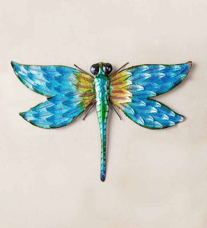 Exceptionnel Iridescent Metal Dragonfly Wall Décor