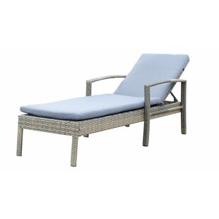 Denika Reclining Chaise Lounge with Cushion