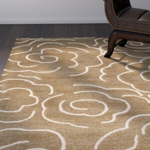 Tatyana Hand-Tufted Brown / Ivory Area Rug